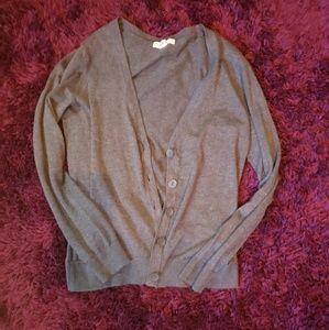 Forever 21 medium grey buttom cardigan sweater